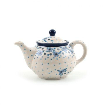 Teekanne Blue White Love