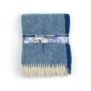 Wolldecke Blau