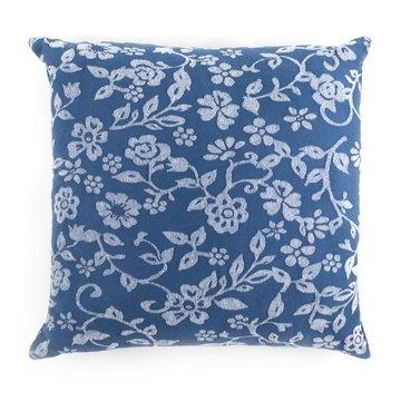 Kissen Blumen Blau